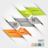 Modello moderno di infographics della freccia. Fotografia Stock