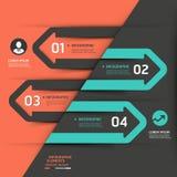 Modello moderno di infographics della freccia di affari. Immagine Stock Libera da Diritti