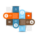 Modello moderno di infographics di affari Fotografia Stock