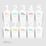 Modello moderno di opzioni di numero di infographics. Immagini Stock Libere da Diritti