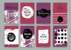 Modello moderno di progettazione di carte Fotografie Stock Libere da Diritti