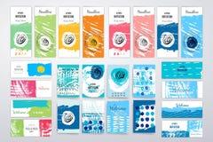 Modello moderno di progettazione di carte con ruvido grungy Immagine Stock Libera da Diritti