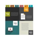 Modello moderno di Web site Insegna minimalistic variopinta di opzione Fotografia Stock