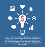 Modello moderno e chiaro Può essere usato per il infographics, i siti Web e illustrazione vettoriale