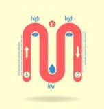 Modello moderno e chiaro Può essere usato per il infographics, i siti Web e royalty illustrazione gratis