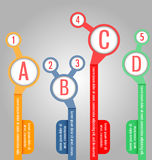 Modello moderno e chiaro Può essere usato per il infographics, i siti Web e illustrazione di stock