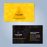 Modello moderno giallo e nero del biglietto da visita Fotografia Stock Libera da Diritti