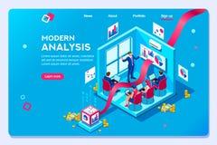 Modello moderno Oprimization di analisi di concetto royalty illustrazione gratis