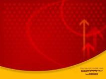 Modello moderno rosso di disegno grafico Fotografia Stock
