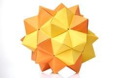 Modello modulare di origami su bianco Fotografia Stock Libera da Diritti