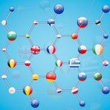 Modello molecolare Fotografie Stock