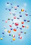 Modello molecolare Fotografia Stock