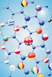 Modello molecolare Immagini Stock Libere da Diritti