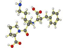 Modello molecolare di lisinopril Immagini Stock