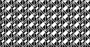 Modello monocromatico astratto moderno semplice della griglia di zigzag Fotografia Stock