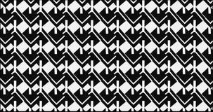 Modello monocromatico astratto moderno semplice della maglia del blocchetto di zigzag Immagine Stock