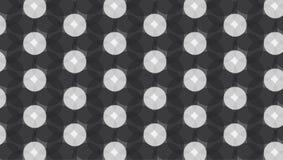 Modello monocromatico della gemma del cerchio Fotografia Stock
