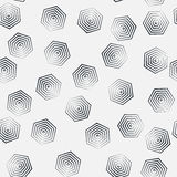 Modello monocromatico di esagono senza cuciture, ripetente struttura geometrica, fondo della struttura lineare Immagini Stock