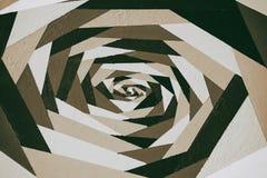 Modello monocromatico ornamentale geometrico d'annata di arte nella seppia, graffito dipinto a mano acrilico con struttura Per mo Fotografie Stock