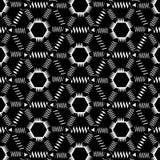 Modello monocromatico senza cuciture con gli zigzag Fotografia Stock Libera da Diritti