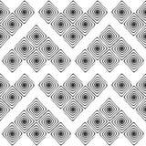 Modello monocromatico senza cuciture del labirinto di progettazione Immagine Stock