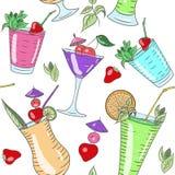 Modello multicolore del cocktail Fotografie Stock