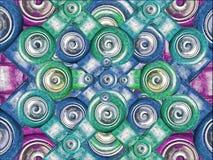 Modello multicolore di forme Fotografie Stock