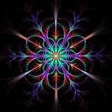 Modello multicolore o fiocco di neve di frattale illustrazione vettoriale