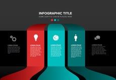Modello multiuso di Infographic di vettore fotografia stock