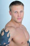 Modello muscoloso Fotografia Stock