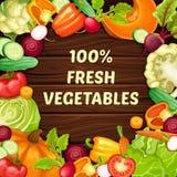 Modello naturale organico dell'alimento del fumetto illustrazione di stock