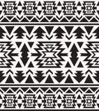 Modello navajo in bianco e nero senza cuciture Fotografie Stock