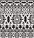 Modello navajo in bianco e nero senza cuciture, illustrazione di vettore Fotografia Stock Libera da Diritti