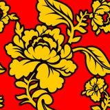 Modello nazionale russo Hohloma Ornamento piega tradizionale nella R royalty illustrazione gratis