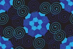 Modello nei toni blu Fotografia Stock