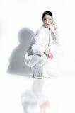 Modello nel bianco Fotografia Stock