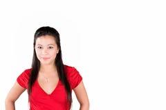 Modello nel colore rosso Fotografie Stock Libere da Diritti