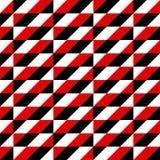 Modello nero, bianco e rosso delle forme geometriche Immagine Stock Libera da Diritti