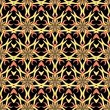 Modello nero d'annata delle stelle astratte senza cuciture Immagini Stock