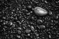 Modello nero del fondo dei ciottoli Immagini Stock