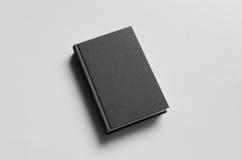 Modello nero del libro dalla copertina rigida - parte anteriore Immagini Stock Libere da Diritti
