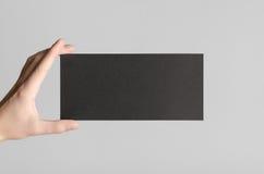 Modello nero dell'aletta di filatoio di DL Fotografia Stock