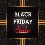Modello nero dell'insegna di vendita di venerdì illustrazione vettoriale