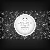 Modello nero della struttura di Natale Fotografie Stock