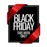 Modello nero di progettazione del segno di venerdì royalty illustrazione gratis