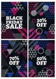 Modello nero di progettazione di vendita di venerdì Immagini Stock Libere da Diritti