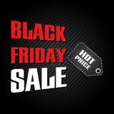 Modello nero di progettazione di vendita di venerdì Fotografie Stock Libere da Diritti