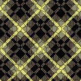 Modello nero e beige dello Scottish del plaid di tartan Eps10 senza cuciture quadrato illustrazione vettoriale