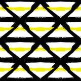 Modello nero giallo a strisce dipinto Fotografia Stock Libera da Diritti