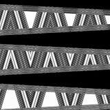 Modello nero moderno irregolare di progettazione sul contesto scuro Vecchio fondo nero delle mattonelle Lo zigzag barra le linee Illustrazione Vettoriale